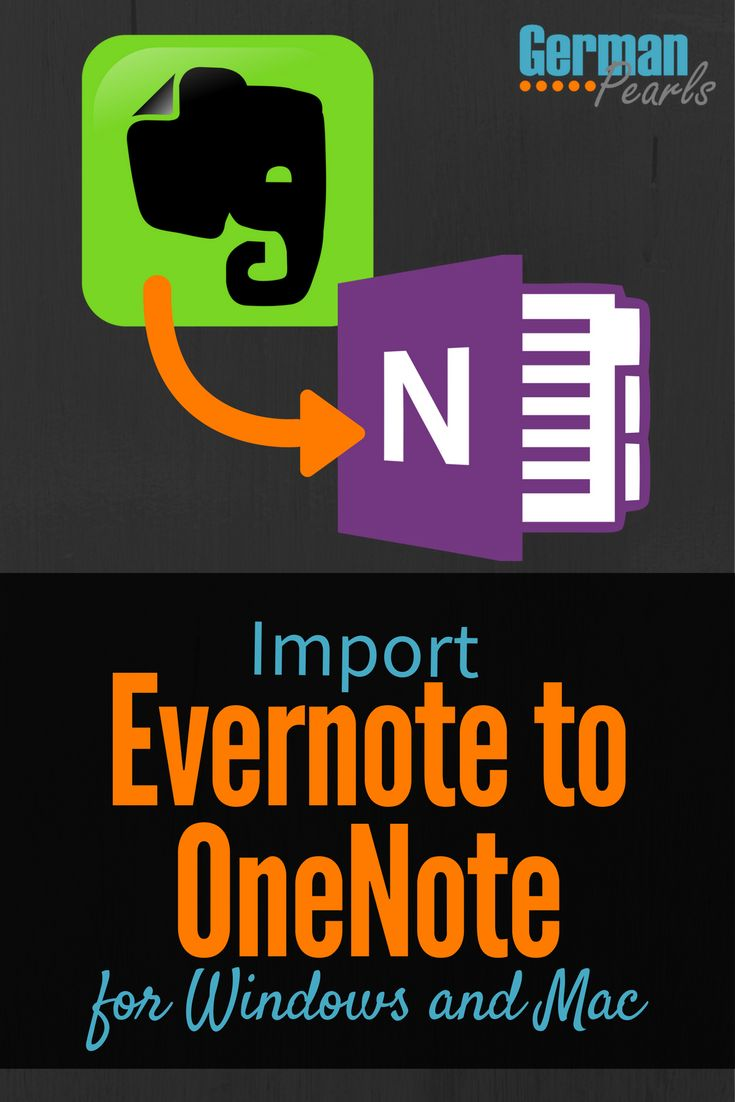 How to Import Evernote to OneNote in Windows or Mac | OneNote Importer Tool | Evernote vs OneNote | What is Evernote? | What is OneNote? via @GermanPearls