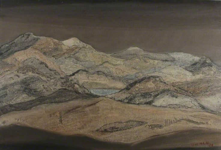 Fred Uhlman (1901–1985) Mountainous Landscape