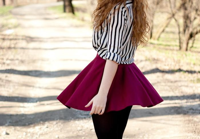 Short flowy skirt outfits – Cool novelties of fashion 2017 photo blog