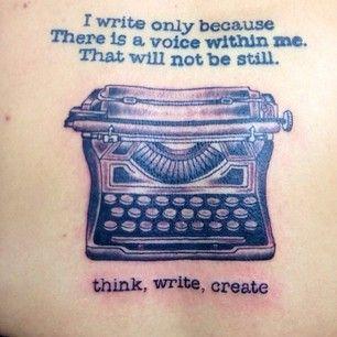 """Think, Write, Create"" | 26 Amazing Typewriter Tattoos That Will Inspire You To Write"