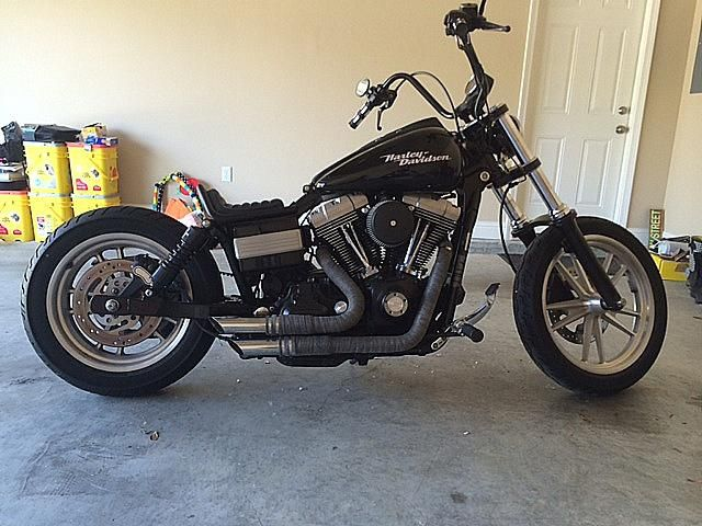 Dan's Harley Super Glide with a Rocket Bobs Pintail Seat