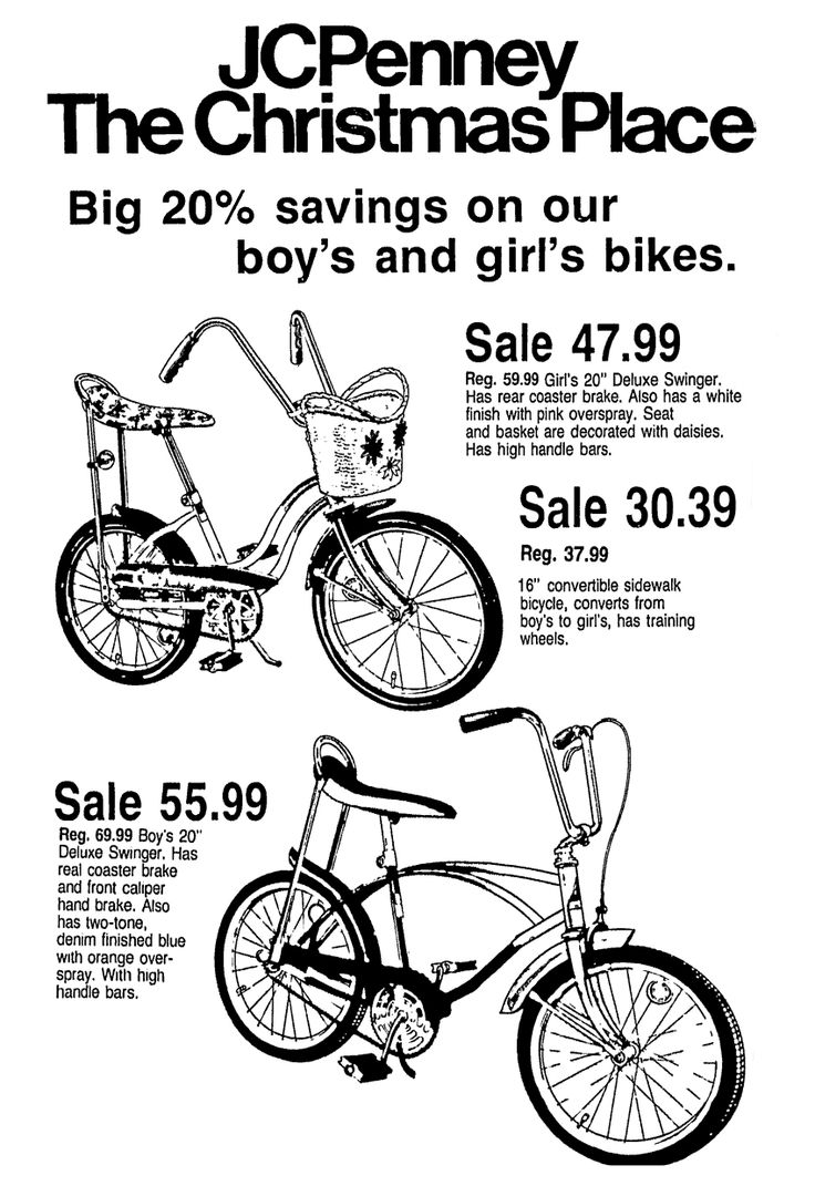 Jcpenney Bicycles December 1974 Vintage Newspaper Retro Advertising Bicycle