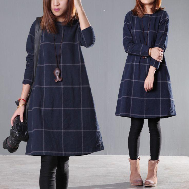 Loose round neck dress - Buykud  - 1