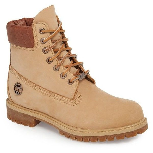Men's Timberland Premium Waterproof Primaloft Insulated Boot (9,265 DOP) ❤ liked on Polyvore featuring men's fashion, men's shoes, men's boots, men's work boots, iced coffee, mens waterproof work boots, croc mens boots, mens leather work boots, mens work boots and mens water proof boots