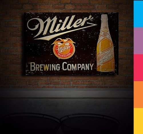 Placas Decorativas - Cerveja Miller Retrô 20x30cm