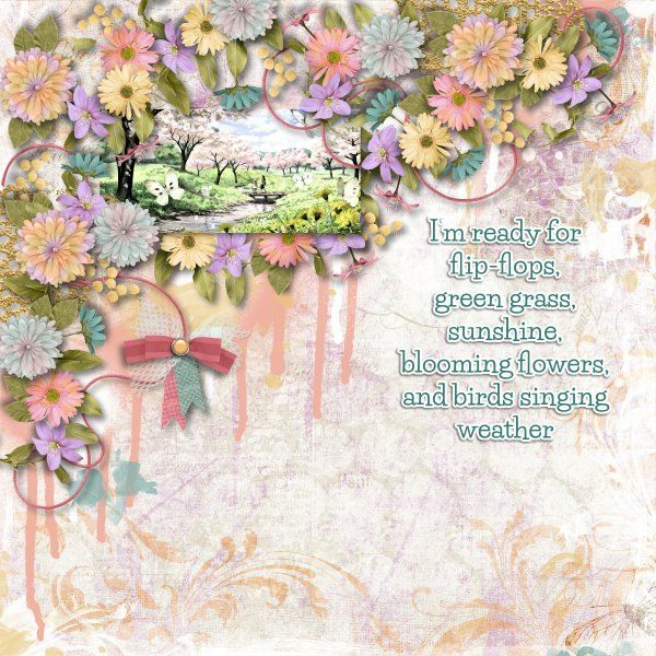 Kit Glorious Spring by Designs by Laura Burger. Template Arty Inspiration #6 by Heartstrings Scrap Art.