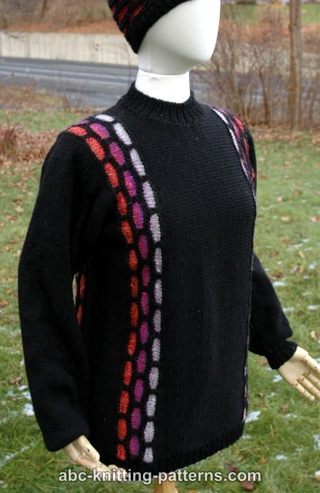 ABC Knitting Patterns - Brick Road Seamless Sideways Sweater