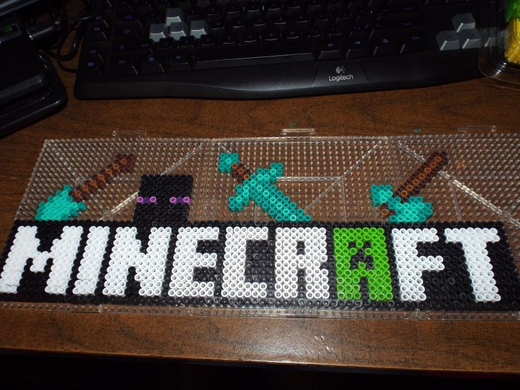Minecraft Logo Perler Beads by SerenitySaz on DeviantArt