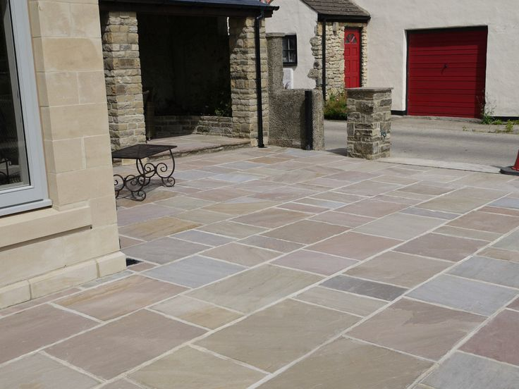 RIPPON - Premium CALIBRATED 22mm Natural Indian Sandstone Patio Paving Slabs | eBay