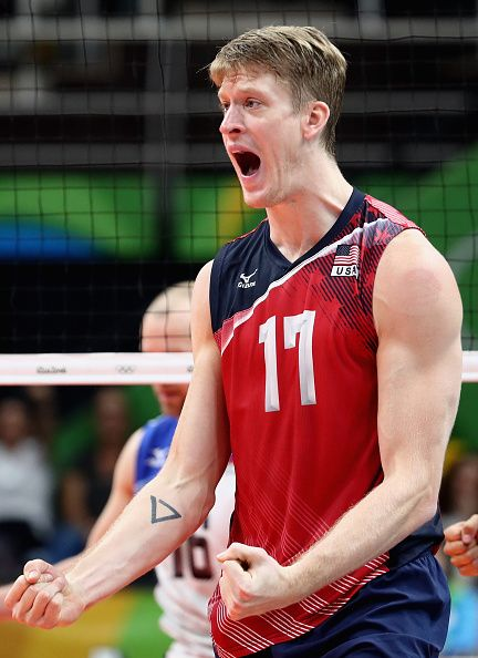 Maxwell Holt of United States celebrates during the Men's Bronze Medal Match…