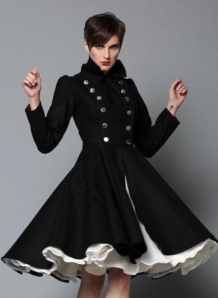Winter coat dress