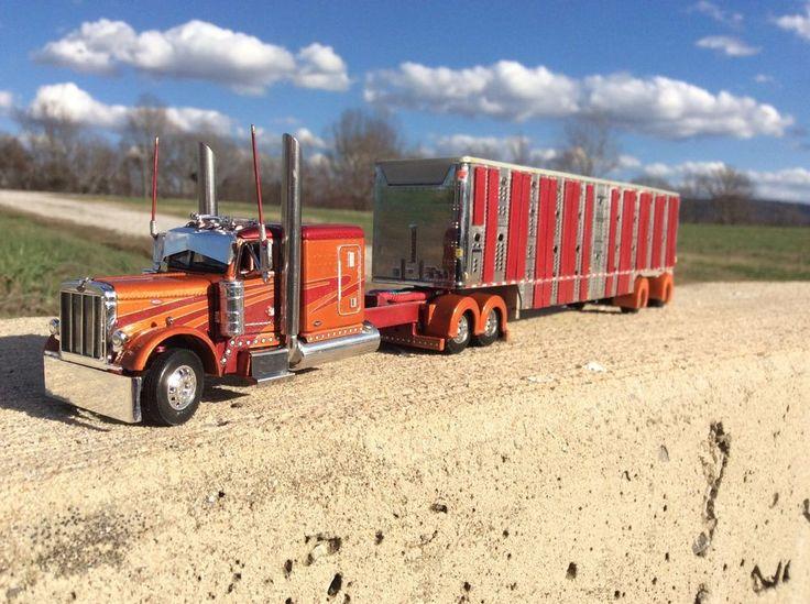 DCP 1/64 Custom Peterbilt 379 W/ Livestock Trailer | Toys & Hobbies, Diecast & Toy Vehicles, Cars, Trucks & Vans | eBay!