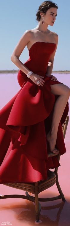 @roressclothes clothing ideas #women fashion red maxi off shoulder dress