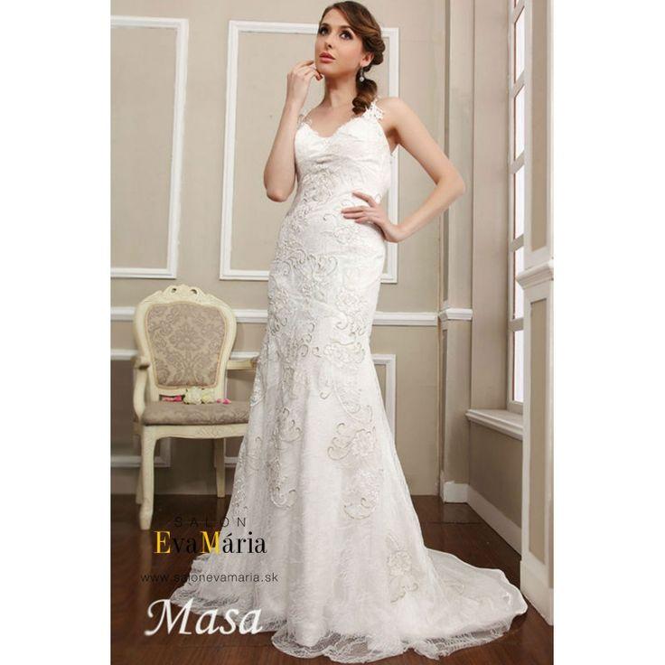 Biele svadobné šaty Masa