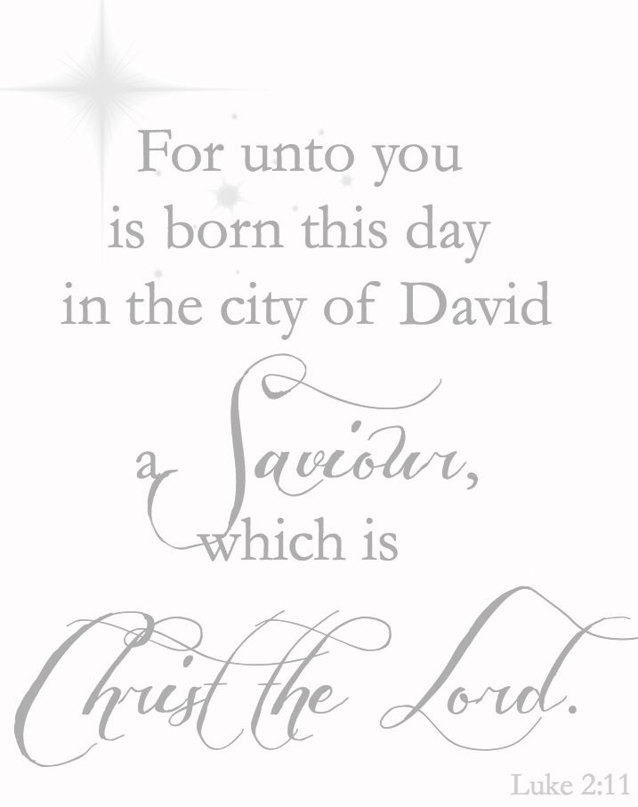 For unto you is born this day in the city of David a Saviour, which is Christ the Lord. Luke 2:11  ♥ ℳ ♥
