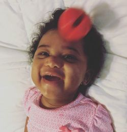 Pink, Girl, gerber baby, osh kosh, disney baby, babies r us , toys r us, play skool, mommy and baby, pretty as mommy, make up, red lipstick, baby model, cute, insta baby, trendy kiddies, clown nose, baby smile, queen baby, queen rayaj