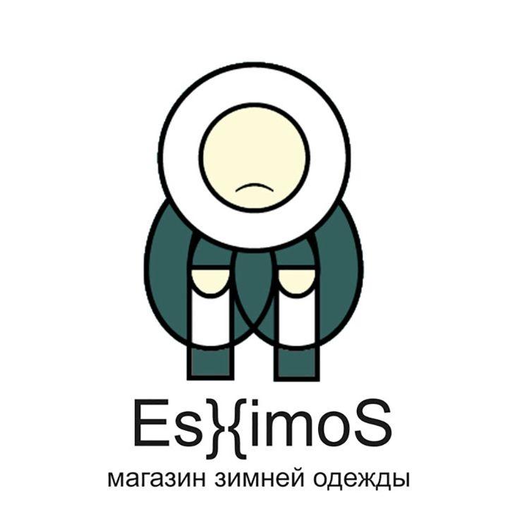 Логотип магазина зимней одежды Эскимос