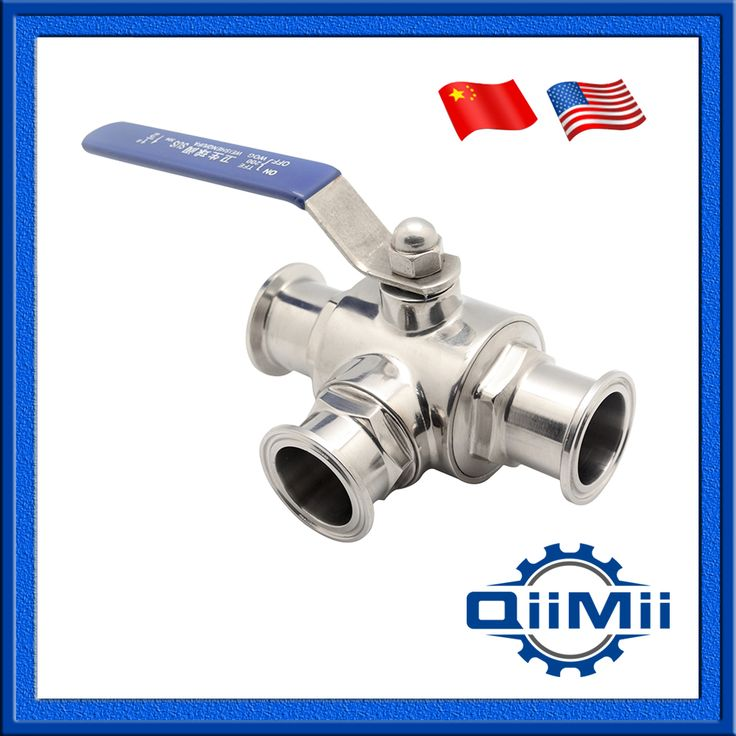 "2.0"" SS 304 clamp three way ball valve T or L port stainless steel for food grade"