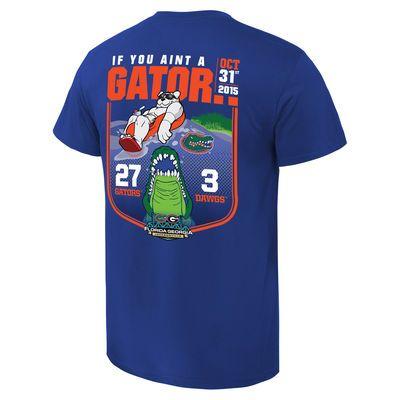 Florida Gators vs. Georgia Bulldogs 2015 Score T-Shirt - Royal