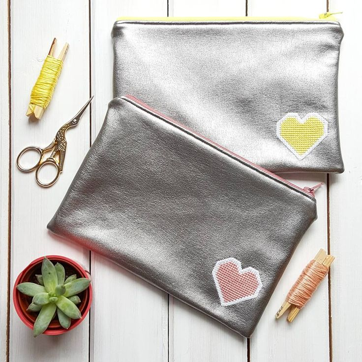 Lucy's been making more leatherette pouches. The tutorial for these lovely pouches is on our blog.