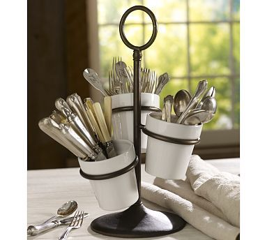 I like this idea.  We have so many forks and spoons for our large family, it's hard to keep it in the drawer using the traditional flatware dividers.