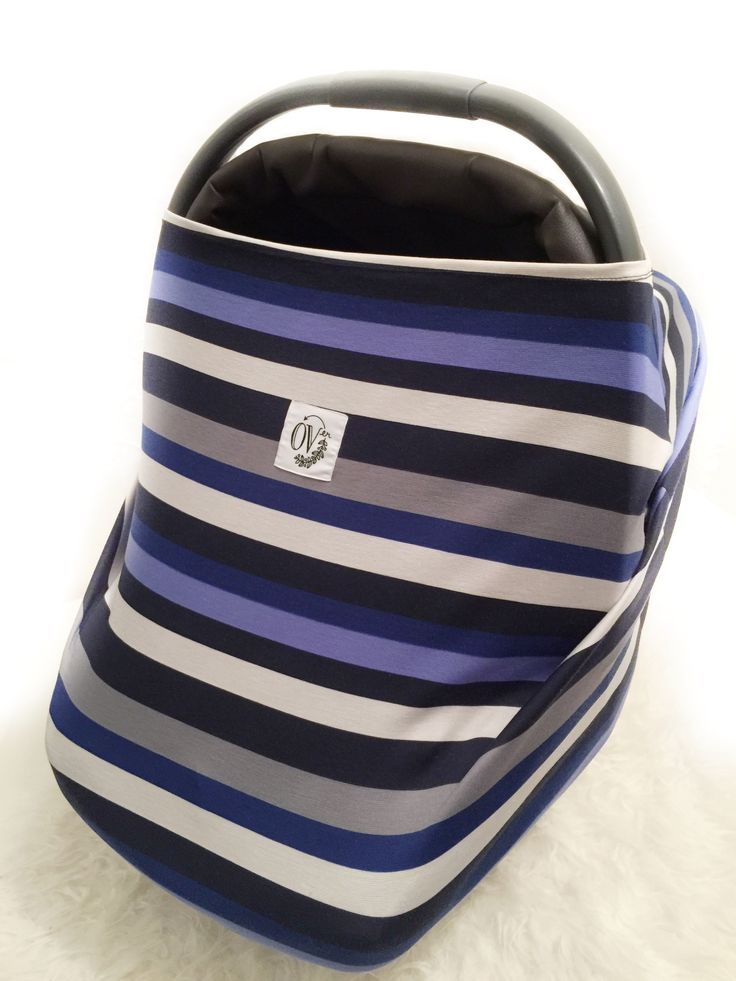 Blueberry Stripe OVer The OVer Company Multi Use Baby