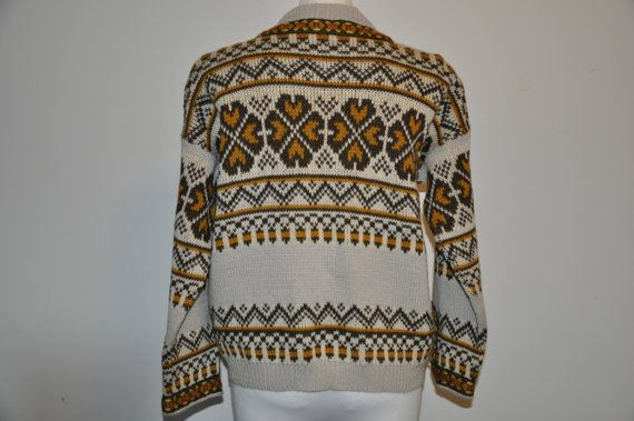 Vintage Norwegian Wool Sweater by Vareika on Etsy