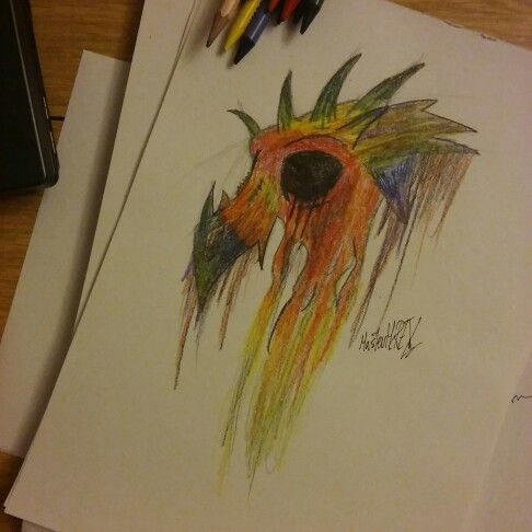 Rainbow dragon skull