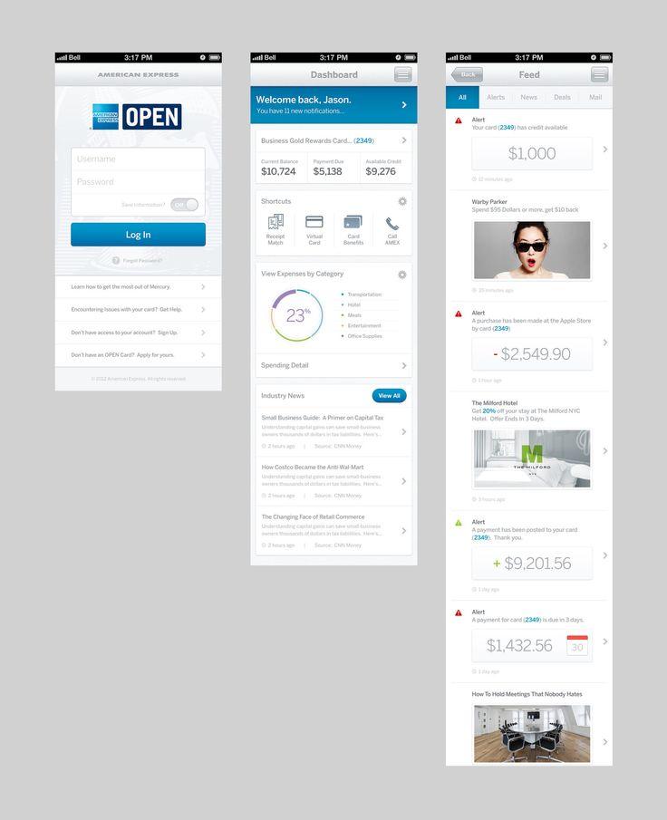 American Express Application Design by BASIC | A Brand & Web Design Agency  www.basicagency.com