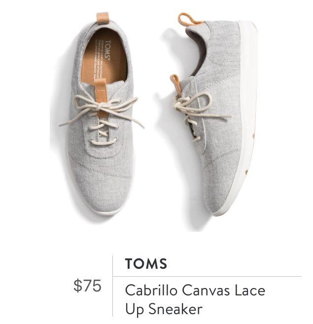 e886281f7a5 Toms Cabrillo Canvas Lace Up Sneaker Stitch Fix