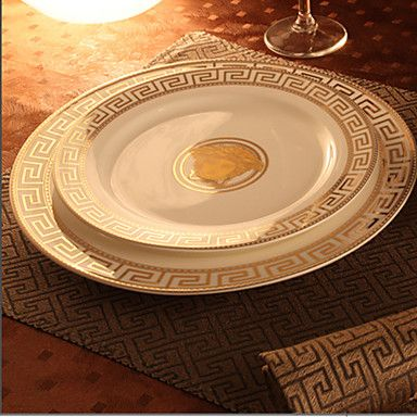 This dinnerware set looks WAY more expensive than it is.  Who doesn't love that?