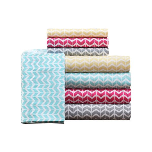 Shop Wayfair for Intelligent Design Chevron Microfiber Sheet Set - Great Deals on all Bed & Bath products with the best selection to choose from!