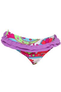 $34.95 Splash – Ruffle Bottom •A fluoro colourful free flowing swirl and flower print •Frill on the waist •Fully lined •Generous fit •Nylon lycra with UPF 50+ www.heavenleecreations.com