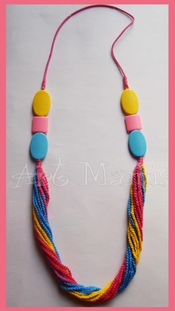Colaresemcrochê: Crochet, In Crochet, Crochet Jewelry, Crochet Jewellery, Necklace