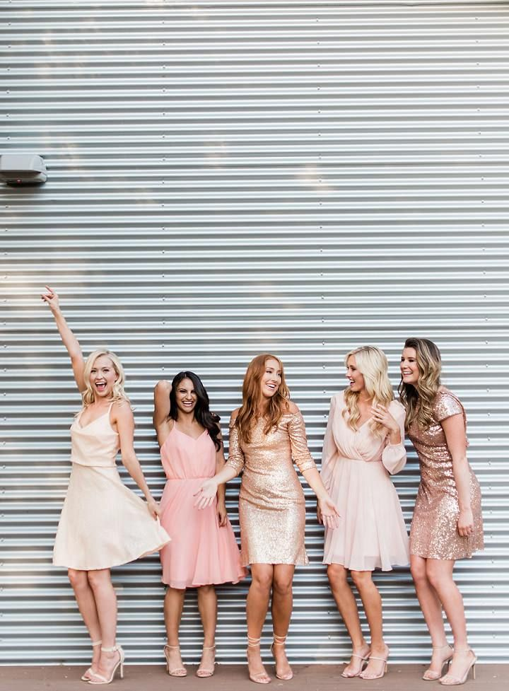 5639ec903ece Keep Shining With Revelry's Sequin Cocktail Dresses #bridesmaids  #bridesmaiddresses #blush #blushweddings #blushbridesmaids #sequin  #sequinbridesmaids