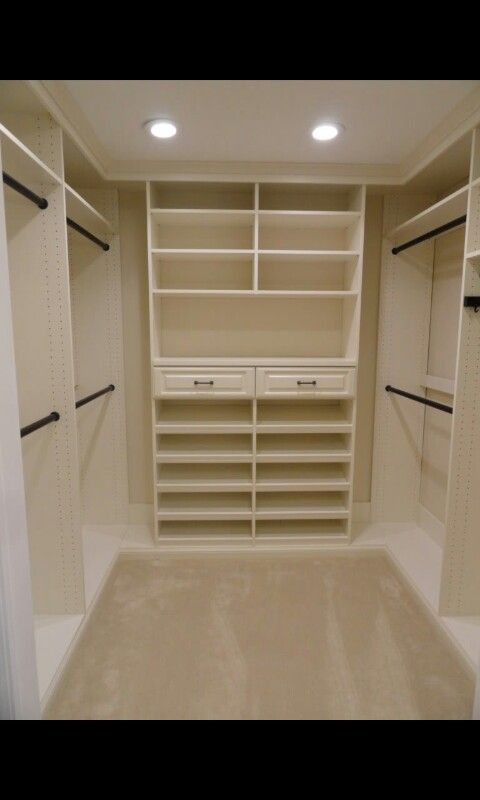 On each end of the master closet  but with drawers on the bottom half and. Best 25  Small master closet ideas on Pinterest   Small closet