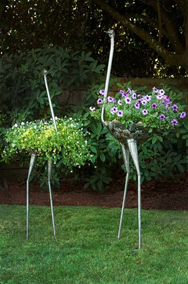These garden decor pots are hilariously cool