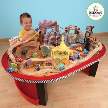Amazon.com: KIDKRAFT RACE TRACK AND TRAIN TABLE RADIATOR DISNEY CARS MOTIFF LIGHTNING MCQUEEN, MATER, SALLY: Everything Else