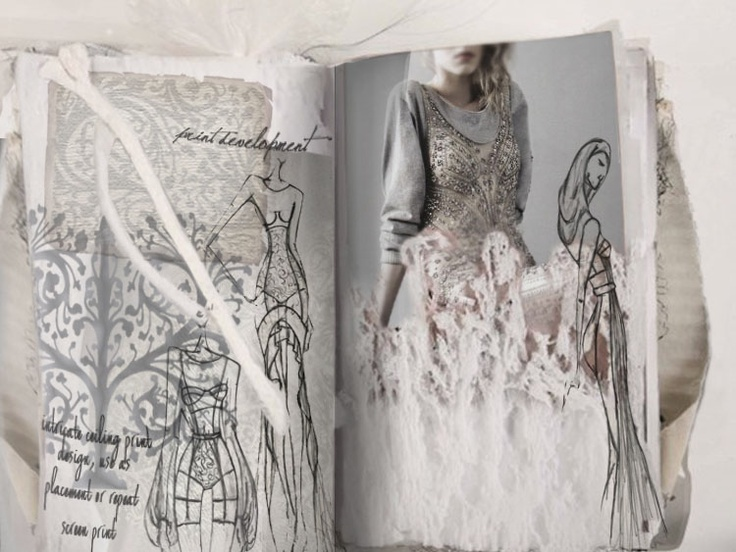 Fashion Sketchbook - fashion design sketches; creative layout inspiration; fashion portfolio // Cazza Hespie