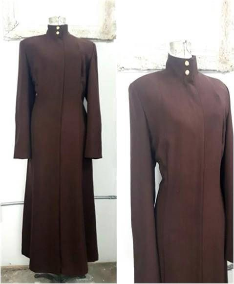 Vintage Virgin wool Full Length Dress Full Length duster