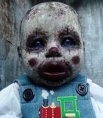 Doll-OOAK-Clown-Zombie-Baby-Horror