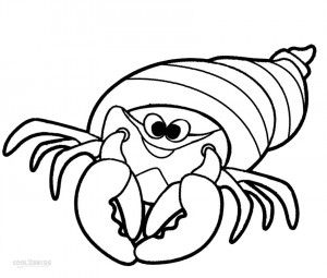 hermit crab coloring pages for kids - Sebastian Crab Coloring Pages