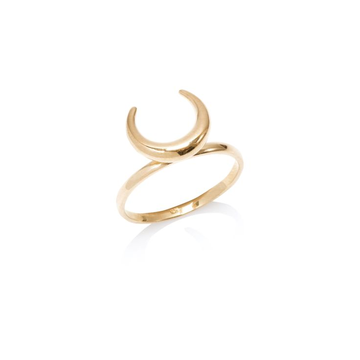 Covered with gold ring, WILD collection, ANIA KRUK jewellery, moon, boho, cosmos, horns