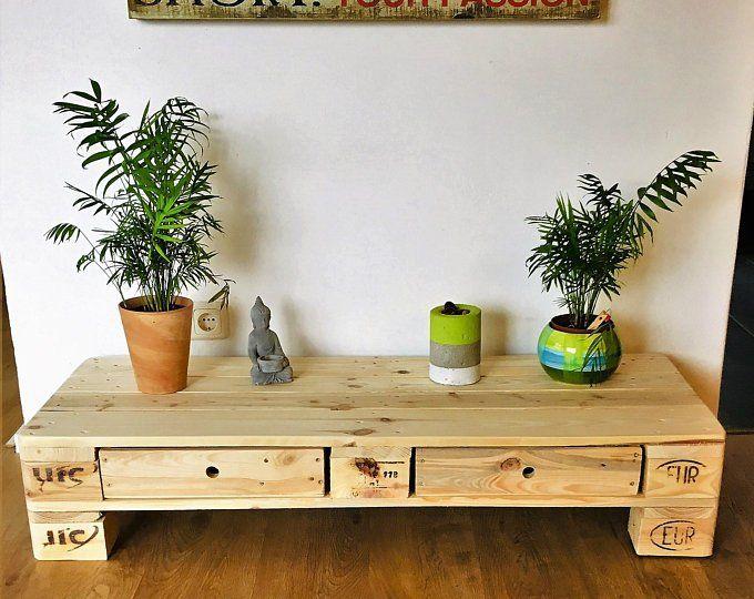 Palettenmobel Wohnzimmer Couchtisch Sideboard Mit 2 Schubladen Unten Tv Sideboard Home Decor Entryway Tables