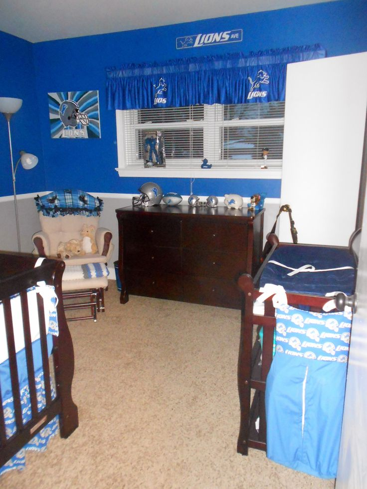 For future Detroit Lions Nursery if we have a boy and I want our living room to look like this