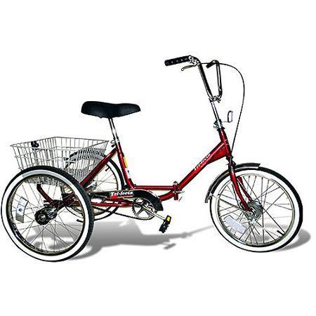 "20"" Trifecta Adult Single Speed Folding Tricycle - Walmart.com"