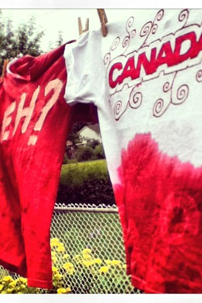 Canada day shirts DIY