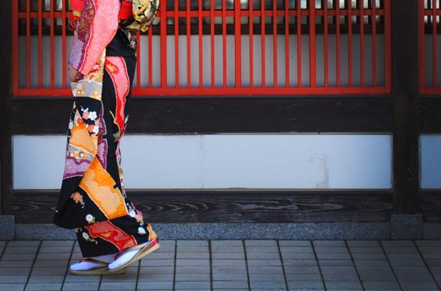 Kimono in Yamanaka spa