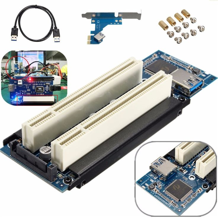 19.68$  Watch now - http://alifj0.shopchina.info/1/go.php?t=32793541299 - PCIe x1 x4 x8 x16 to Dual PCI slots adapter pci express to 2 pci card With USB 3.0 Extender Cable for serial parallel sound card  #magazineonline