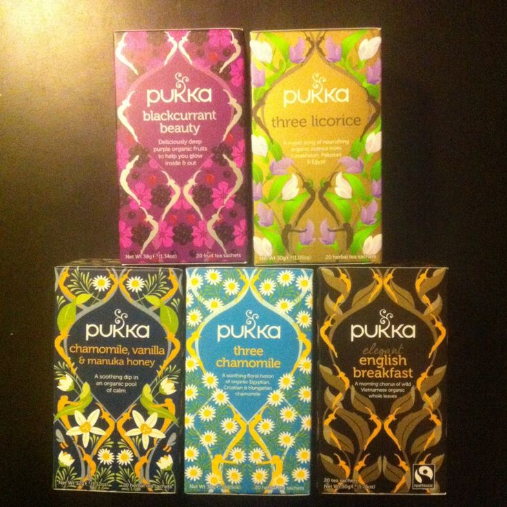 Nye yndlingsvarianter fra Pukka økologiske tebreve.